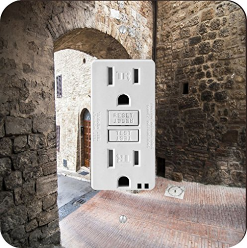 Rikki Knight 2022 Narrow Tuscan Street Design Light Switch Plate - Tuscan Archway