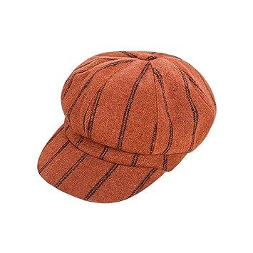 Scrox 1x Hombre Mujer Sombreros Gorras Boinas Cl/ásico Moda Vintage Flat Cap Casual Unisex Oto/ño Invierno Outdoor Algod/ón Ocio Hat Sombrero Corto Beige