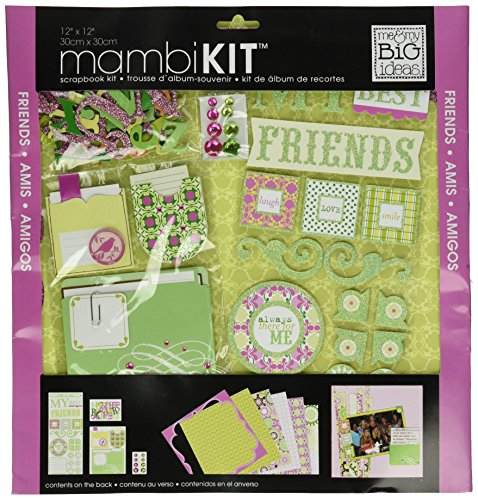 12' Glitter Scrapbook Paper - Me & My Big Ideas My Friends Page Kit, 12 by 12-Inch