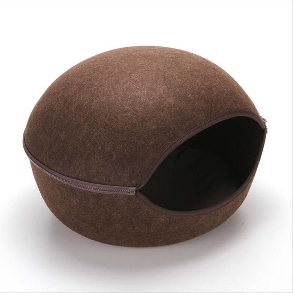 Brown Eggshell Warm Pet Nest Cat Litter Kennel 50  50  32Cm,Brown