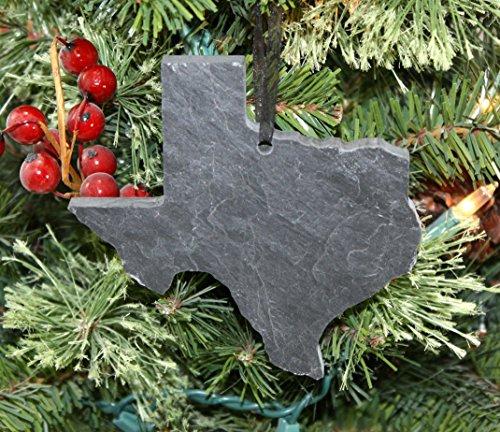 (Texas Black Slate Christmas Ornament)