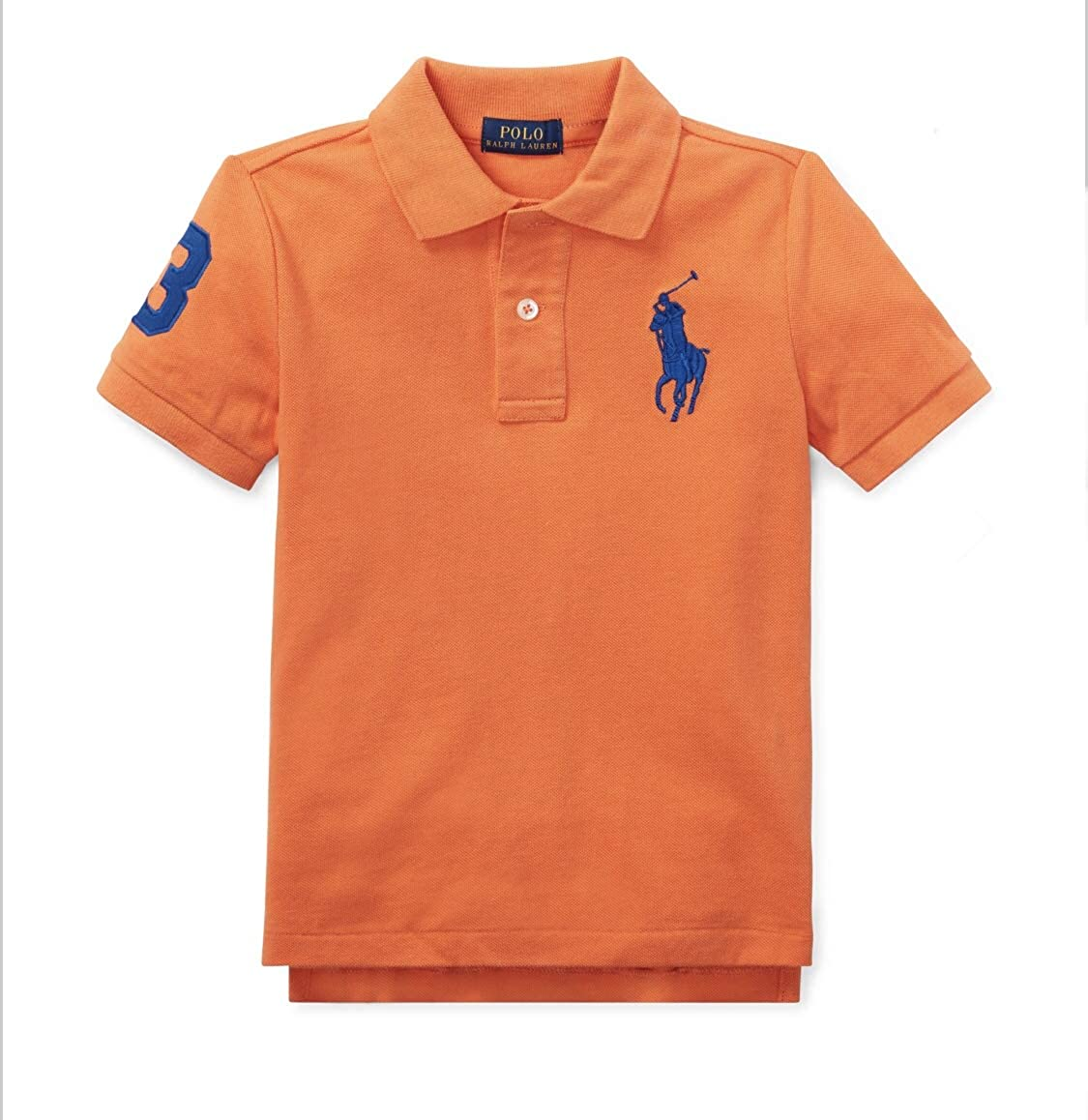 Polo Ralph Lauren Toddler//Boys Shirts Big Pony /& Number on Sleeves 100/% Cotton 2-20 Years