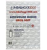 Imballaggi2000 Rotolo Carta Lettino 6 pz Lenzuolino Lenzuolini Medici massaggio medico 75 metri altezza 60 2 veli