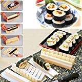 Bazaar 11pcs White DIY Sushi Maker Mold Rice Roll Mold Kitchen Tool