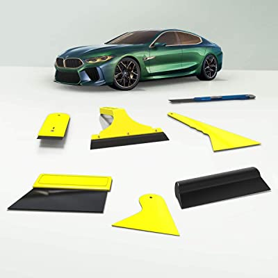 KAFEEK 7pcs Car Glass Protective Film Installing Tool: Automotive