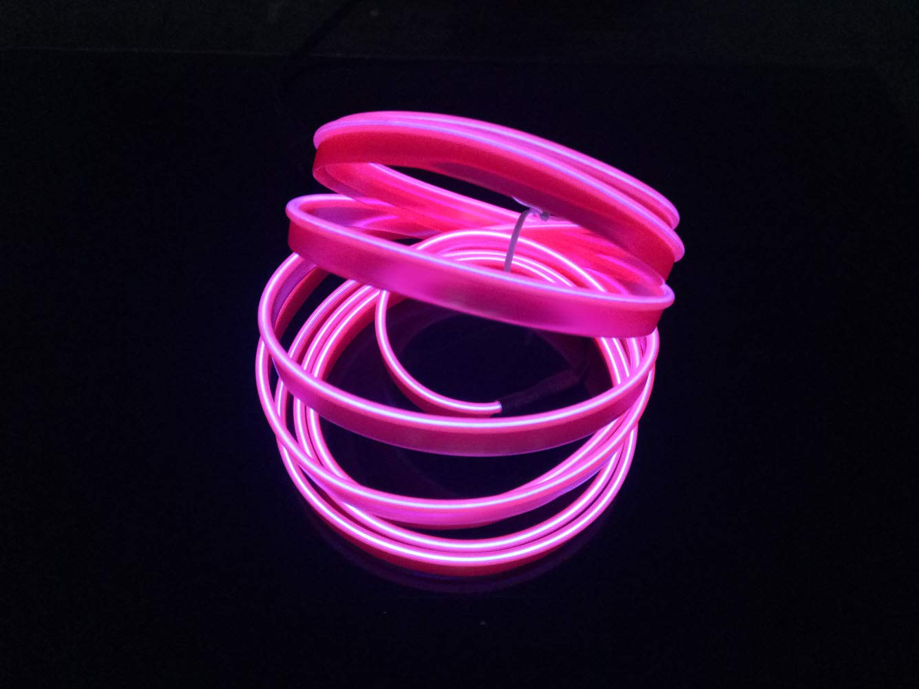El Wire Car 3m//9ft Neon Light 12V LED Cold lights Flexible Neon EL Wire Auto Lamps for Wedding Car Decorations Red