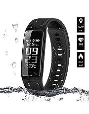 ELEGIANT Fitness Tracker, Fitness Armband Aktivitätstracker Schrittzähler Uhr Sport Watch IP67 Wasserdicht mit Herzfrequenz Monitor/Schlafanalyse/Kalorienzähler/Wecker Anruf SMS Whatsapp