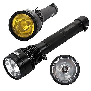 AGM Lampe Torche à Xénon HID W Lumens Lampe De Poche - Lampe torche puissante longue portée