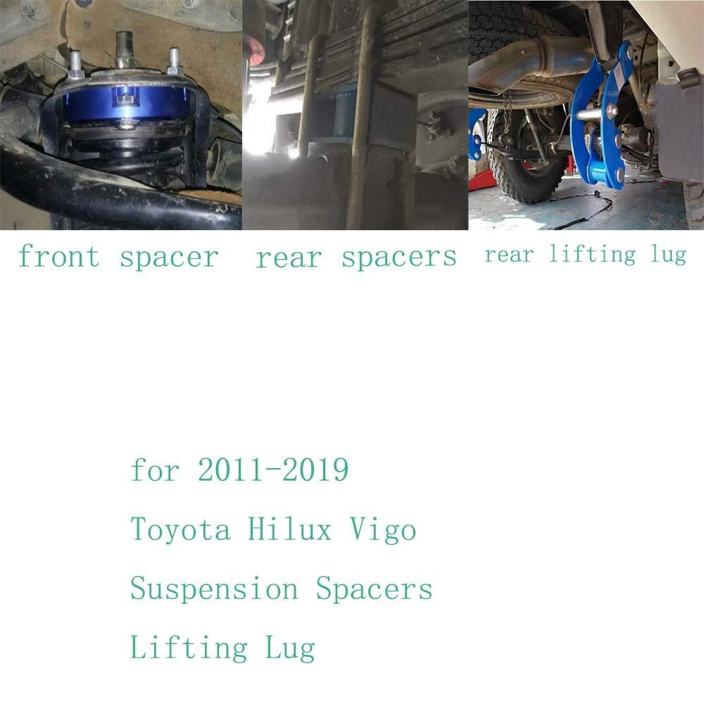 JINGLINGKJ 32 mm Federung 51 mm Hintere Federbl/öcke Lift Up Kits f/ür To-Yota Hilux Vigo 2011-2019 UBolt Kit Hebeadapter Federbein 1 Set