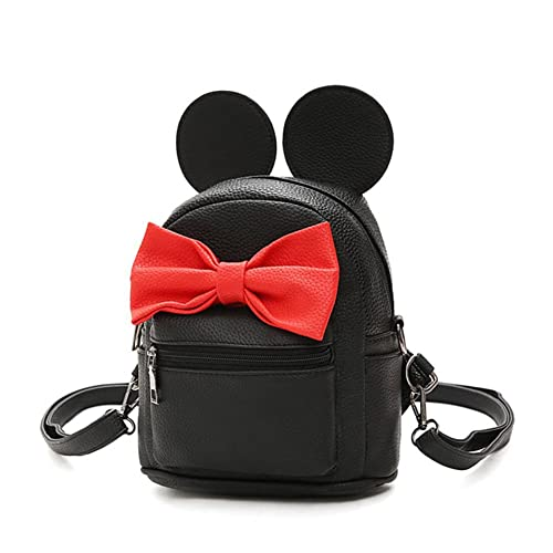 756a7c679ea ShiningLove Girls Mini Backpack Preppy Style Ears Bowknot School Backpacks  Women Shoulder Bag Black
