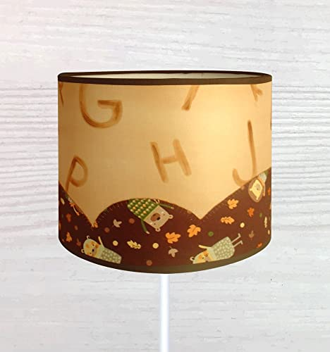 Divertida pantalla de lámpara de seda pintada a mano, con ...