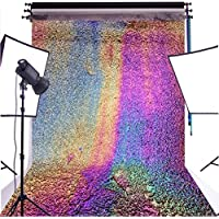 DULUDA 6X9FT Rainbow Wall Seamless Vinyl Photography Backdrop Pictorial cloth Customized photography Background studio prop CW01
