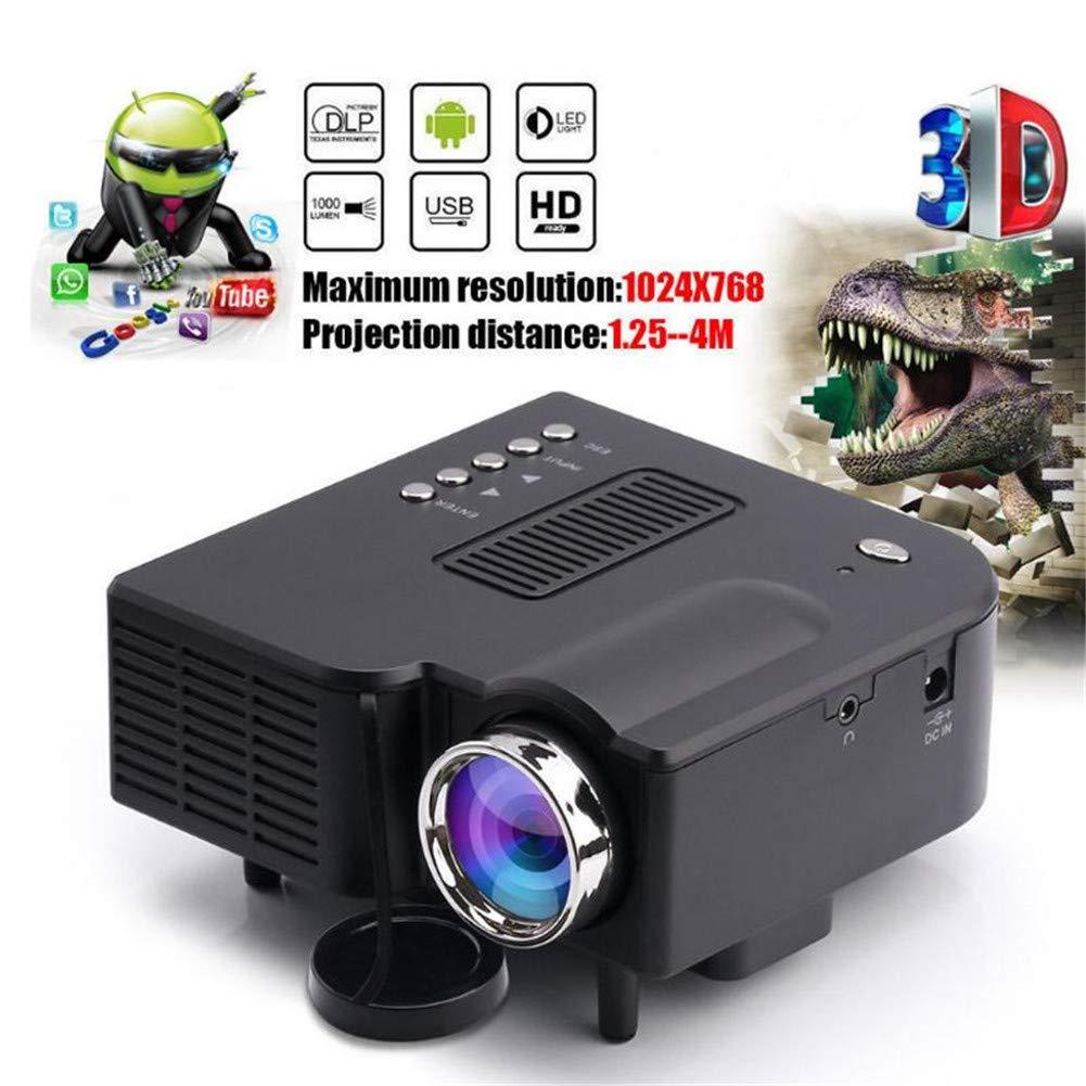 Proyector de Video Proyector LCD Soporte para Mini proyector 2K ...