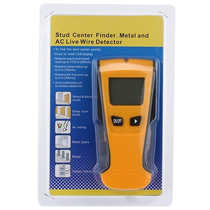 Providethebest 3-en-1 Función de corrección automática Detector de metal LCD Stud Centro Buscador de voltaje CA Live Wire detectamos una pared escáner ...