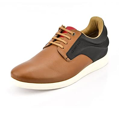 Lace-Up Tan Leather Casual Shoes