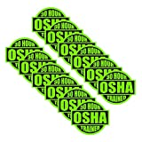 30 Hour OSHA Trained (12pack) size: 2'' ROUND by StickerDad color: LIME GREEN/BLACK - Full Color Printed Sticker for Hard Hat, Helmet, Windows, Walls, Bumpers, Laptop, Lockers, etc.