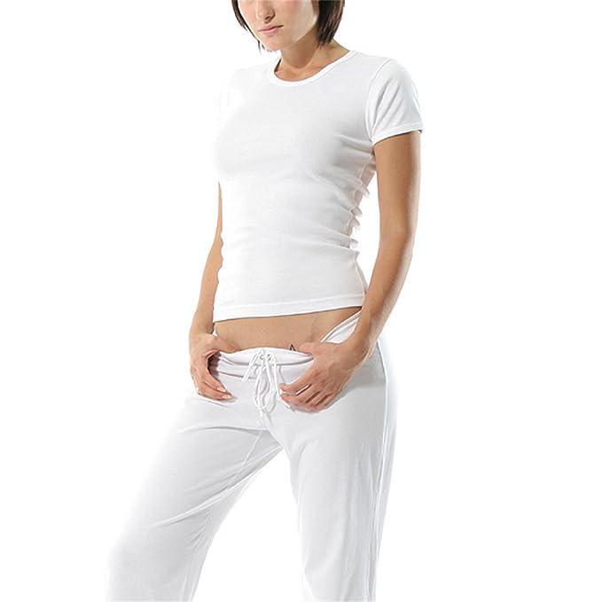 Amazon.com: Varubaba Soft Sleepwear Lounge Pants Womens Pajamas Set Round Neck Modal Fabric Breathable Underwear Ropa Interior Mujer S-2XL 2465: Clothing