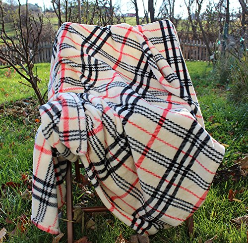 Tache Super Soft Warm Tartan Plaid Bedside Comfort Throw Blanket  50