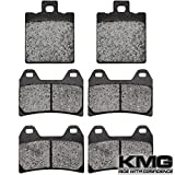 KMG 2003-2006 Ducati Monster S4R (996cc) Front + Rear Carbon Kevlar Organic NAO Brake Pads