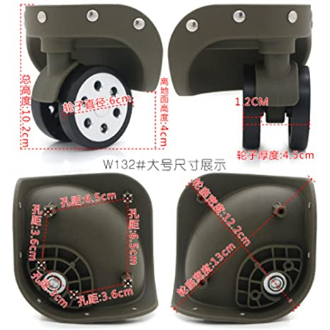 06afc78f6f6b Amazon.com : A pair/set Replacement luggage wheels W132# (Di Long ...