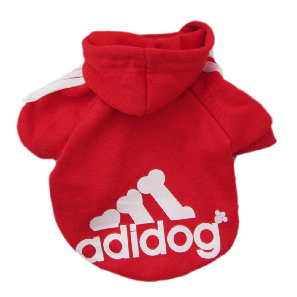 Zehui - Pull à capuche pour animal domestique - Vêtement chaud à capuche pour chat, chien, chiot ZH-RD-XL