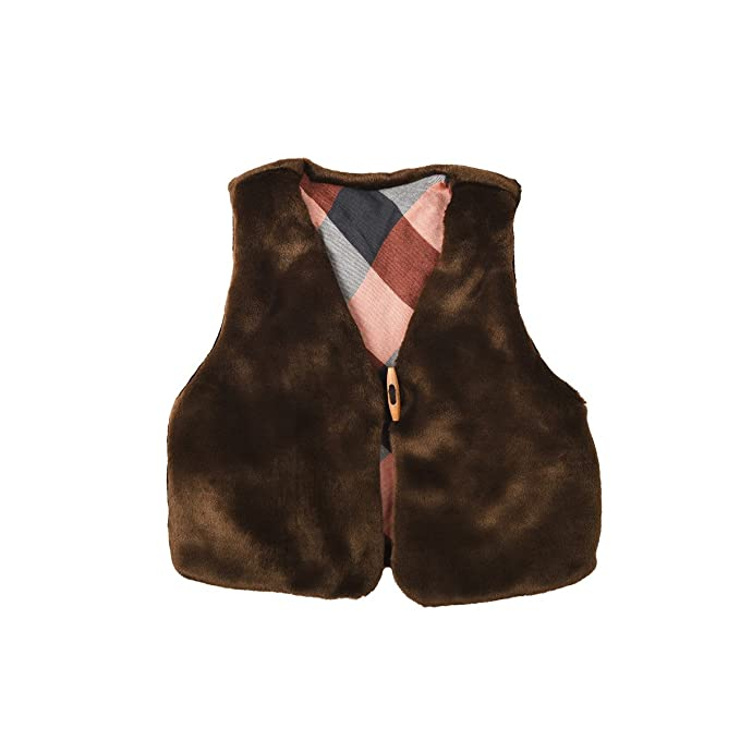 Chaleco de pastor pelo sintético marrón Mixta niña y niño pequeña Bergère marrón marrón Talla:6 ans: Amazon.es: Bebé