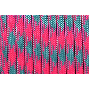 Bored Paracord Brand Paracord / Parachute Cord 7-Strand, 550 Lb. Break Strength Guaranteed U.S. Made, Type III - Cotton Candy Paracord (100 feet)