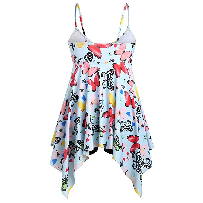fa3ac5a6d83 ZZRWOMEN Sexy Women's Butterfly Print Plus Size Tankini Swimdress for Woman Bathing  Suits Swimwear at Amazon Women's Clothing store:
