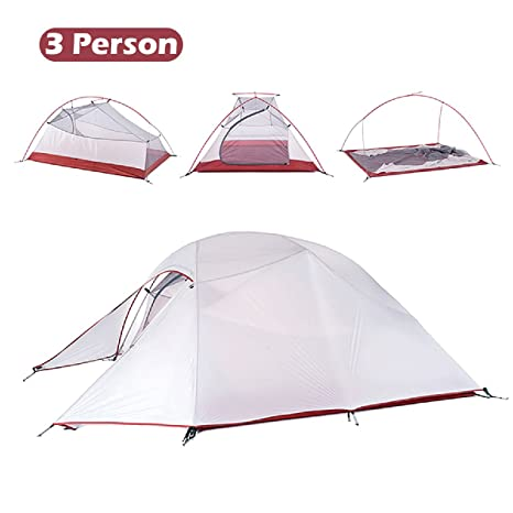 TRIWONDER Tent 1-2-3 Person 4 Season Camping Backpacking Tent Lightweight Waterproof Double Layer for Camping Hiking