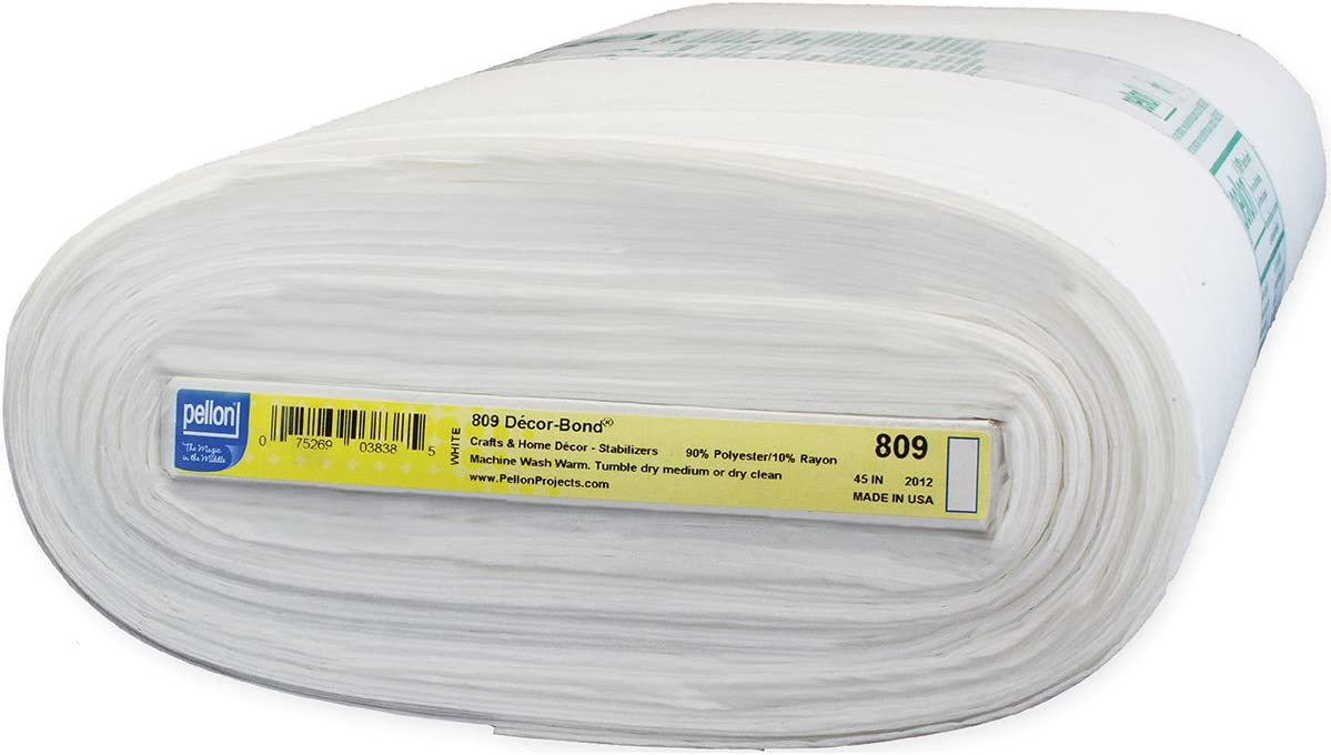 Pellon 809 Decor-Bond Fusible Interfacing, 44-Inch by 25-Yard, White