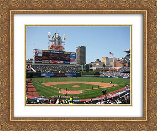 Matted 24x20 Gold Ornate Framed Art Print from the Stadium Series (Field Gold Series Stadium)