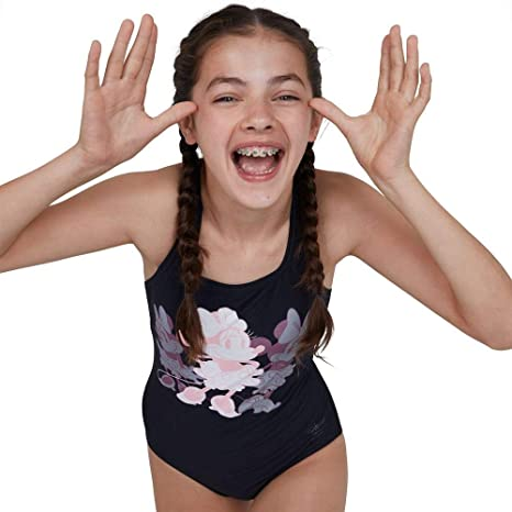 Speedo Girl's Disney Minnie Mouse SwimsuitSwimming Costume