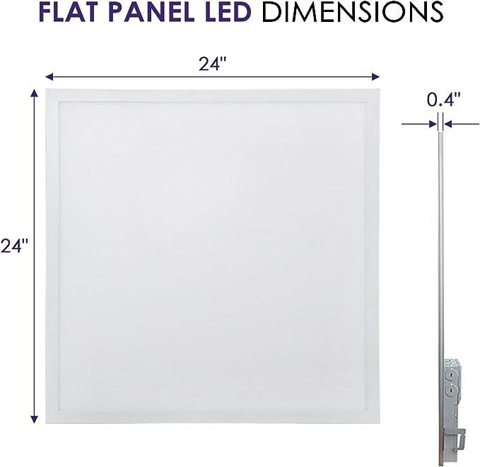 32W 5000K Worldwide Lighting FPL14-5000-32W-2PC 1x4 FT LED Flat Panel Light 2