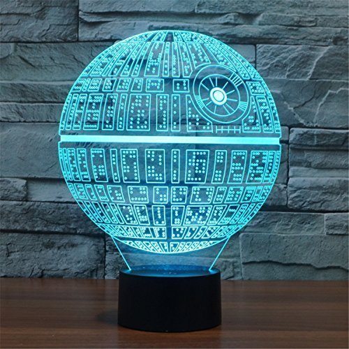 3D Illusion Platform Night Lighting Touch Botton 7 Color Change Decor LED Lamp