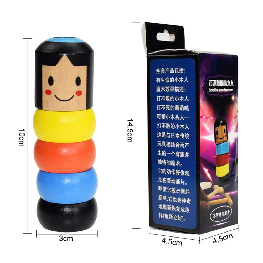 Cossll498 You Can Never Knock It Down Cute Girl Doll Automatic Assemble Funny Tricks Toy Stage Magic Props