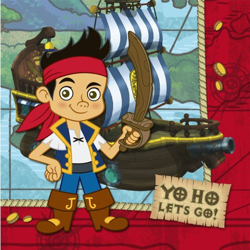(Jake and the Never Land Pirates Luncheon Napkin)
