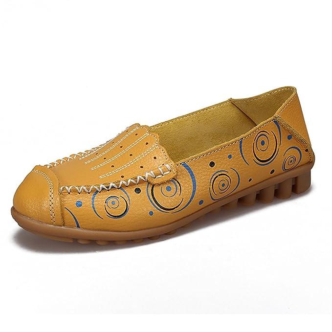 Bridfa Zapatos de mujer Zapatos de mocasines de madre Zapatos de moda de niña Zapatos casuales Mocasines de cuero genuino: Amazon.es: Ropa y accesorios