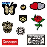 Clothes Repair Patch - Flowers Clothes Patch - Clothes Decoration Patch - New Badge Patch Fashion Casual Personality Cloth paste Creative Clothing Decoration For Adult Children(Circle Badge)