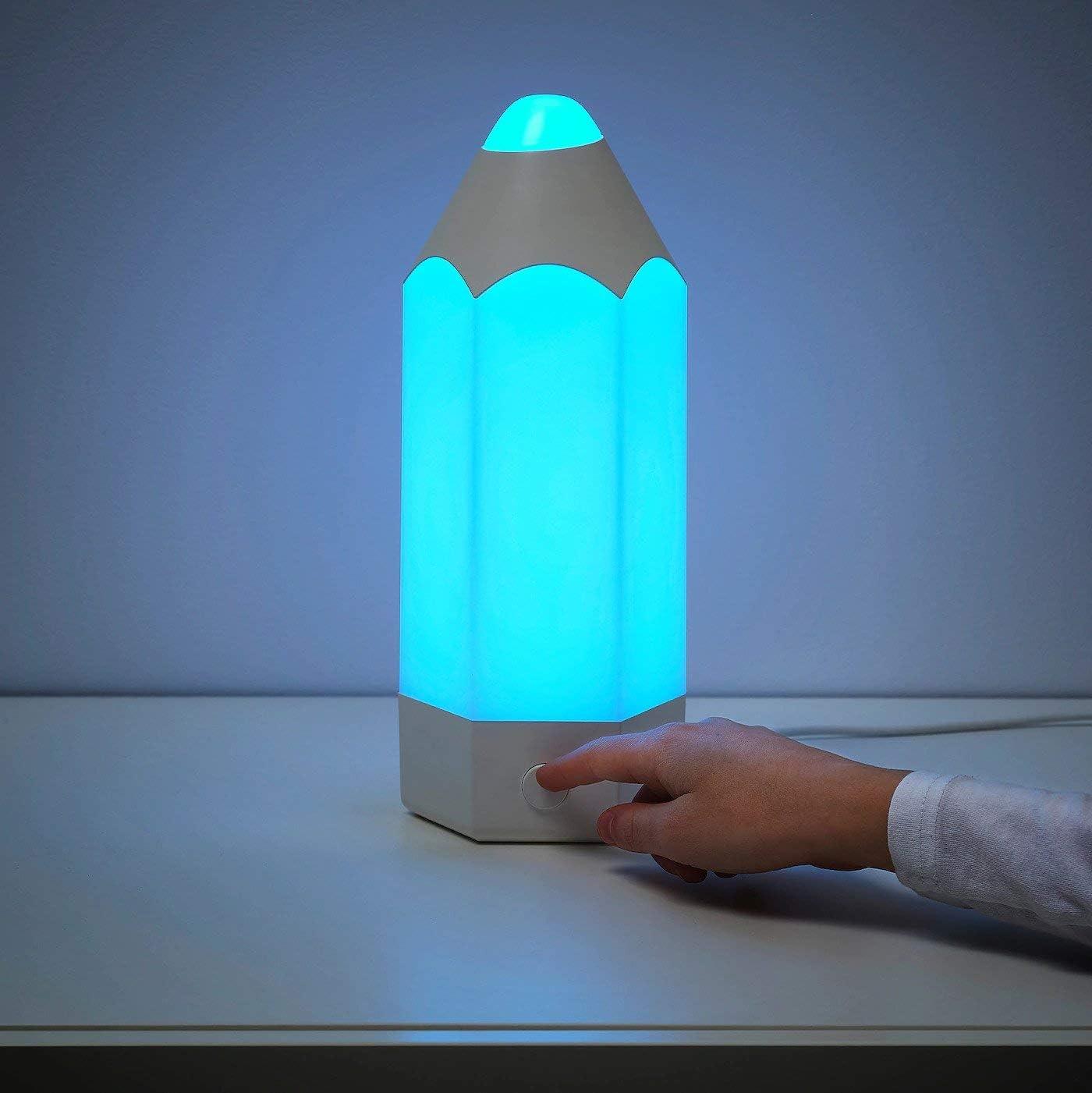 IKEA PELARBOJ - Lámpara de mesa LED para habitación infantil con ...