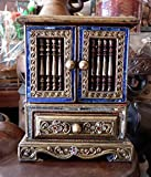 Colorful Cabinets with Drawers Teakwood Teak Wood Wooden Box Chest for Jewelry Rings & Necklaces