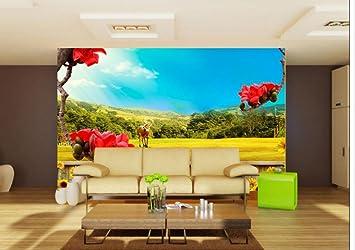 sproud 3D-Wandbilder Tapeten für Wohnzimmer Landhausstil Wallpaper ...