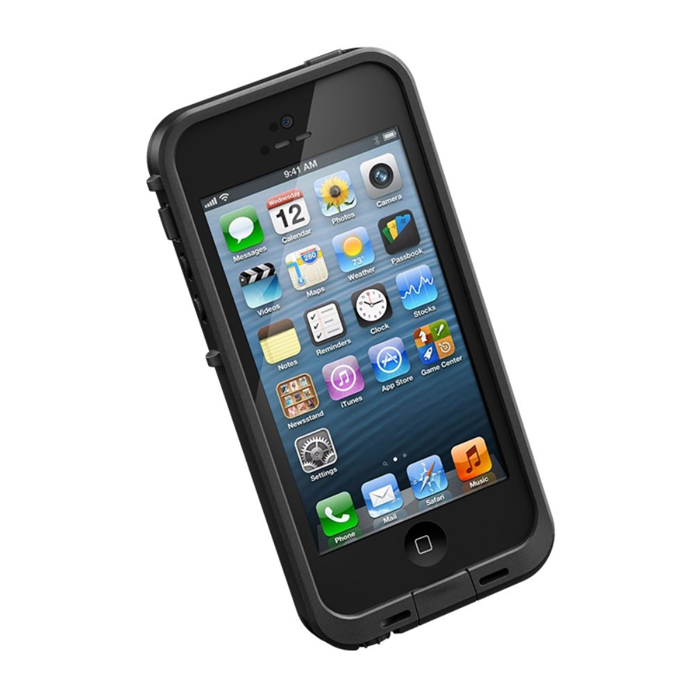 Amazon com lifeproof frē iphone 5 waterproof case retail packaging black discontinued by manufacturer cell phones accessories