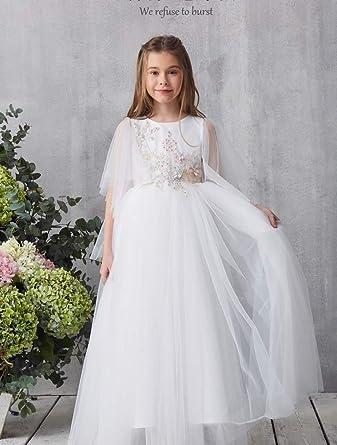 fcf06ef6c06bb 子供ドレス キッズ レースワンピース チュール 女の子ジュニアドレス 発表会 フラワーガールドレス お姫様ドレス