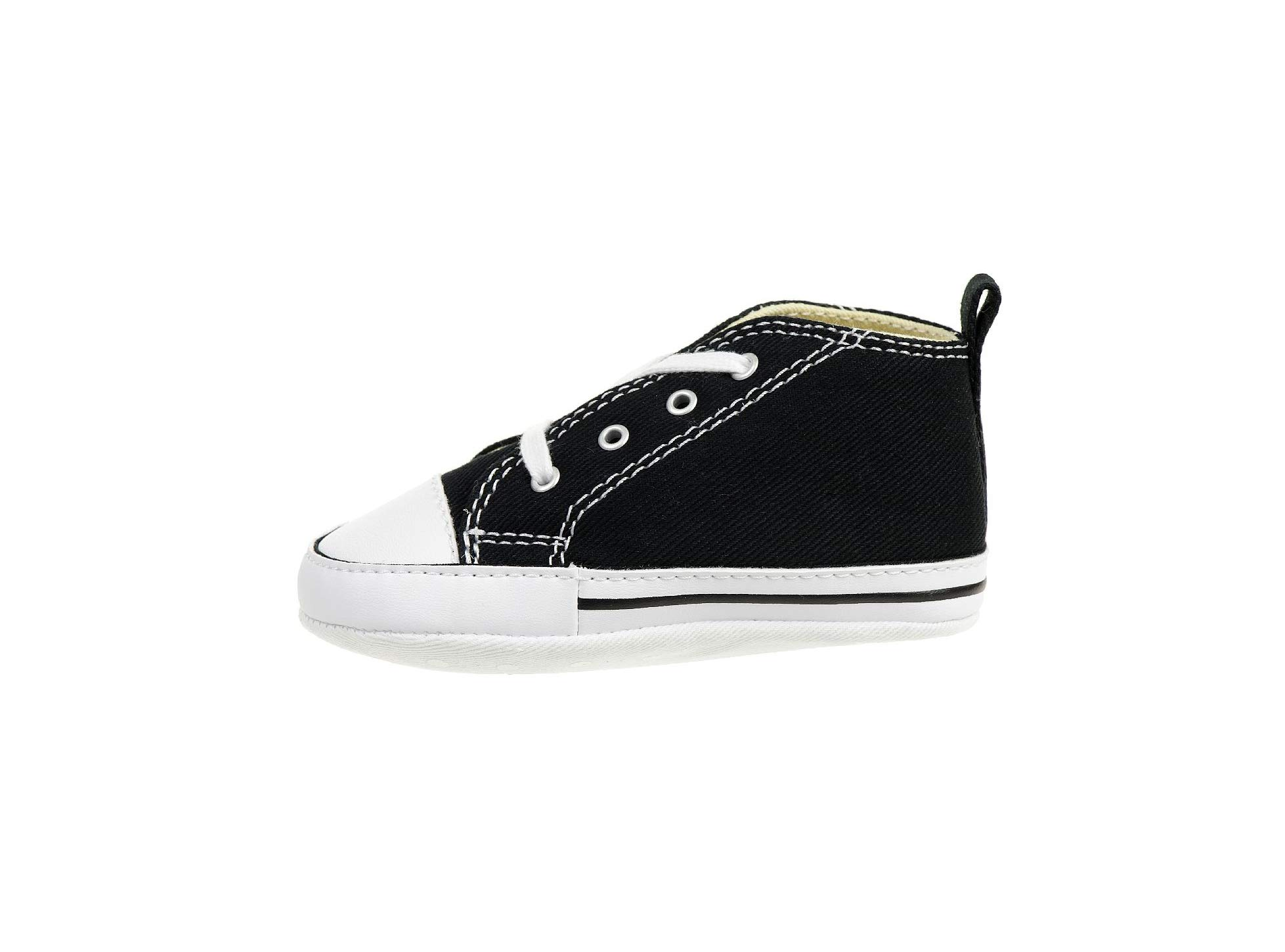 Converse Baby First Star High Top Sneaker, Black, 3 M US Infant by Converse