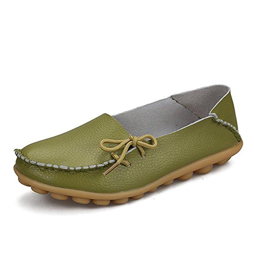 Cosstars Mocasines de cuero mujer Loafers Casual Zapatos Zapatillas: Amazon.es: Deportes y aire libre