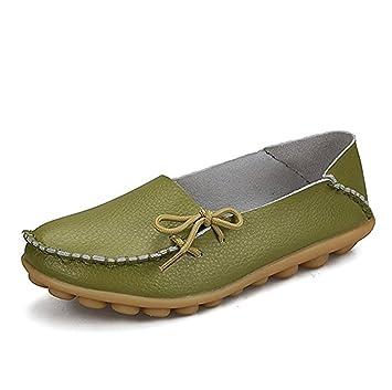 Cosstars Mocasines de cuero mujer Loafers Casual Zapatos Zapatillas