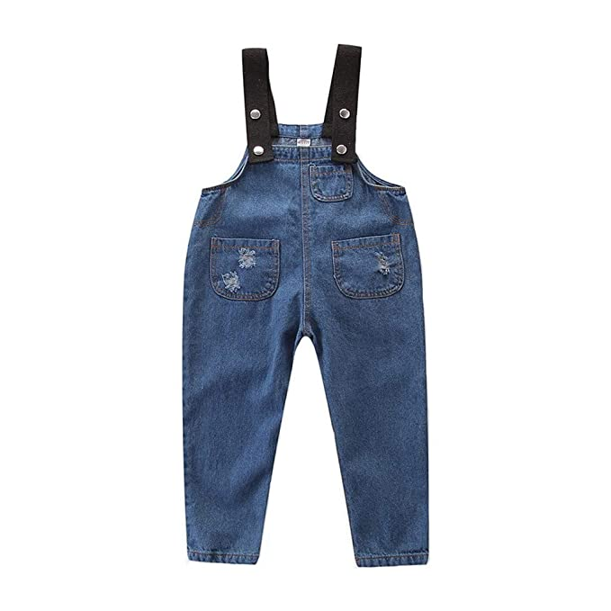 317bd5eeb4a Amazon.com  Dsood Kids Boys and Girls Sleeveless Jeans Overalls Jumpsuit  Pants Outfit Suspenders Pants  Clothing