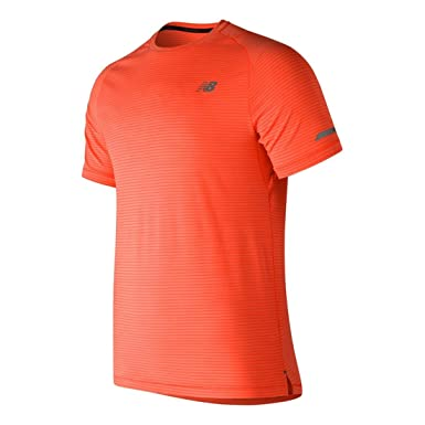 9df9b2bd7e43d New Balance Seasonless Short Sleeve Running T-Shirt - AW18: Amazon.co.uk:  Sports & Outdoors