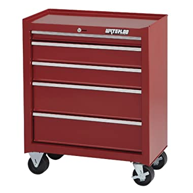 Waterloo Shop Series 5-Drawer Tool Cabinet, Red Finish, 26  W - Designed, Engineered and Assembled in the USA