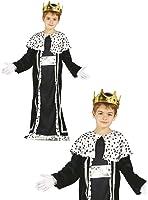 Guirca - Costume Re Magio Baldassarre Boys, 5-6 anni, 45422